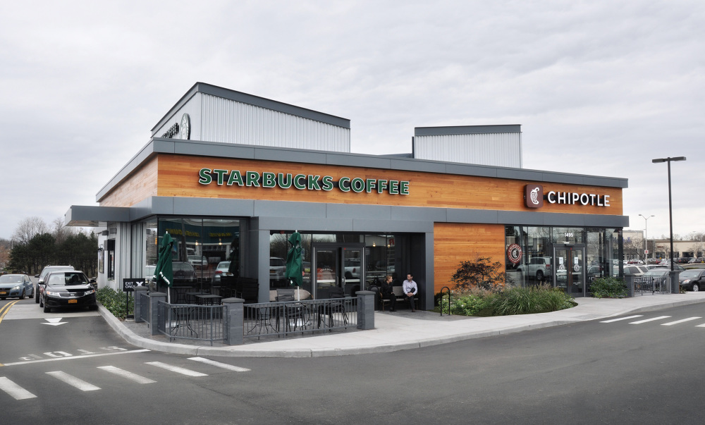 Philip Michael Brown Studio Designed Starbucks Chipotle Wins Best Re Purposed Building Award For 2015 By The Irondequoit Chamber Of Commerce